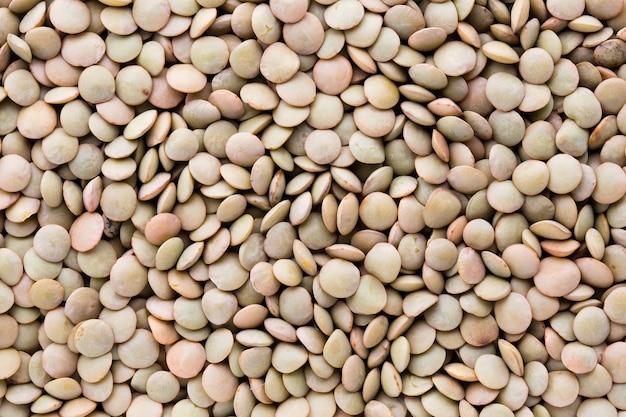 Linsen hülsenfrüchte hülsenfrüchte gemüse vegetarischen lebensmittel hintergrund.