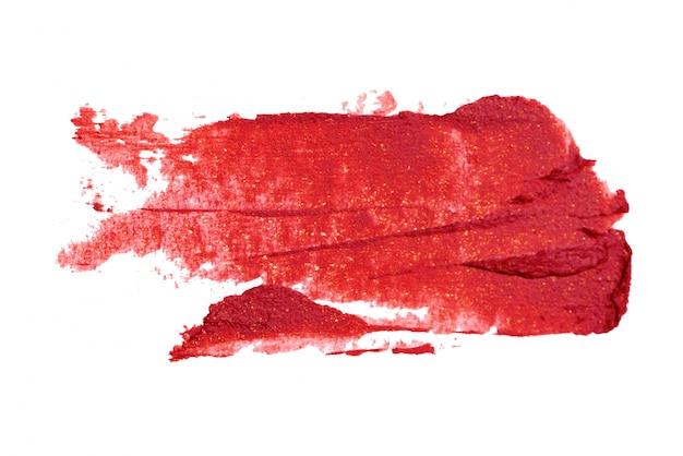 Lippenstift auf weißem hintergrund
