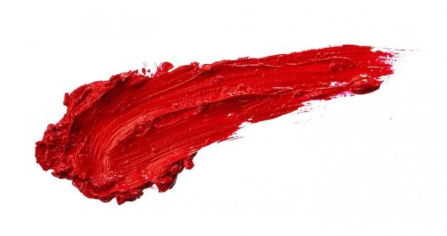 Lippenstiftmusterprobe auf weiß