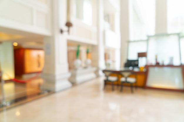 Lobby und lounge des luxushotels mit abstrakter unschärfe