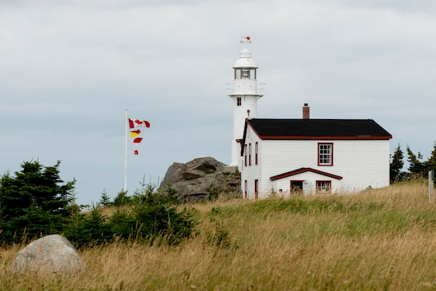 Lobster cove head leuchtturm, rocky harbour, gros morne nationalpark, neufundland und labrador, can