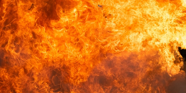 Lodernder feuerflammenhintergrund und -zusammenfassung