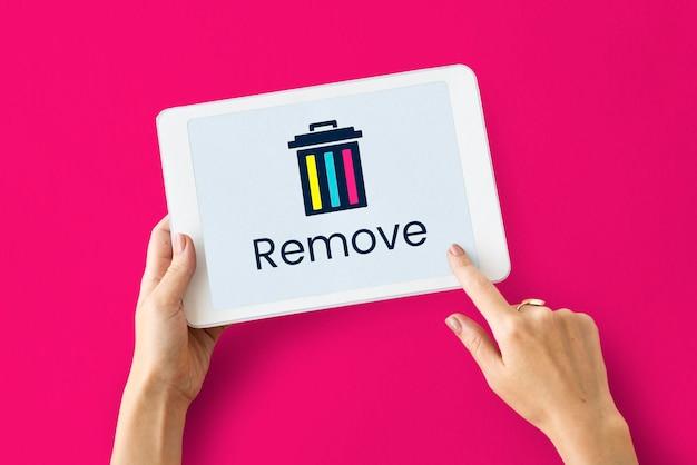 Löschen papierkorb entfernen anwendungsgrafik
