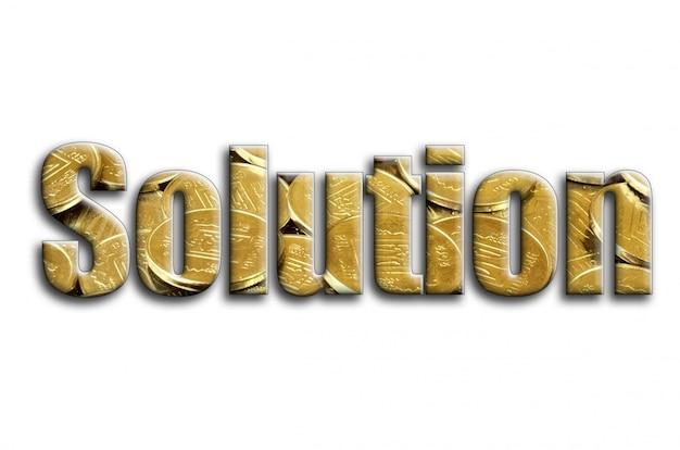 Lösung. die inschrift hat eine textur der fotografie, die viele ukrainische münzen zeigt