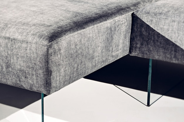 Loft-stil polstermöbel konzept. nahaufnahme bild
