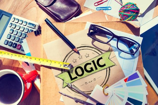 Logisches, logisches, vernünftiges, kritisches denkkonzept