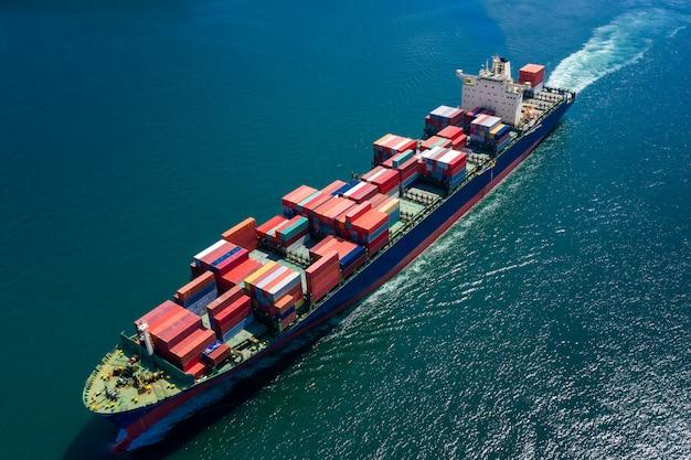 Logistik business transport per schiff flugseeservice import und export international