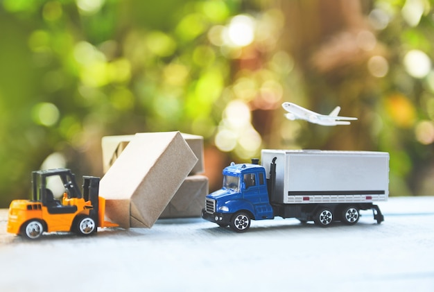 Logistik transport import export versandservice