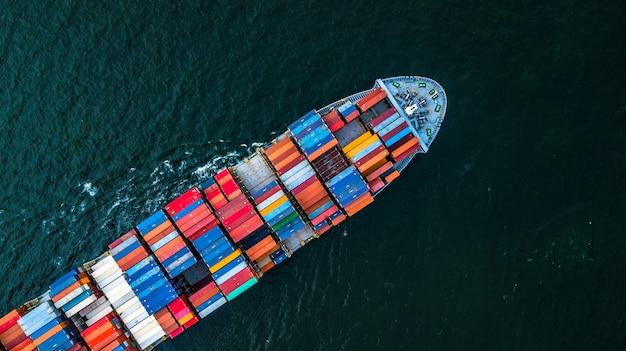 Logistik und transport von international container cargo schiff