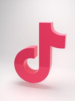 Logo der tik tok app minimal einfaches design