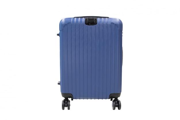 Lokalisiertes reisegepäck auf weißem hintergrund