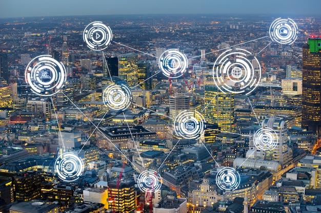London-bürogebäude für netz und zukünftiges konzept