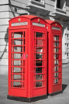 London, traditionelle rote telefonzelle.