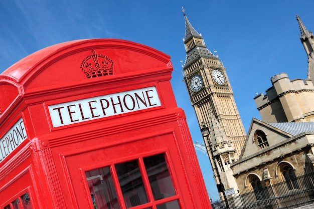 Londoner telefonzelle big ben