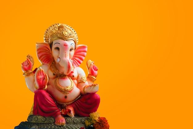 Lord ganesha, indischer ganesh festivalhintergrund