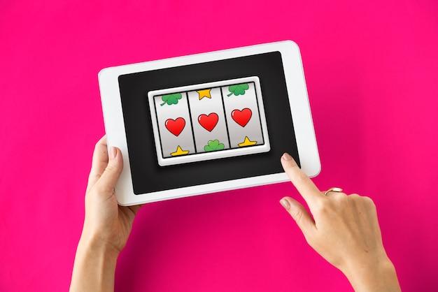 Lotto-spielautomat jackpot-gewinn-konzept