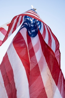 Low angle independence day usa flagge