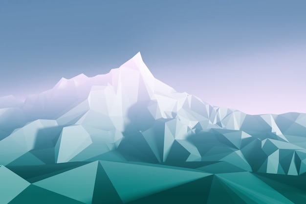 Low-poly-bild der berge