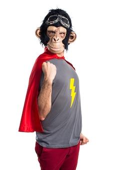Lucky superhero affe mann