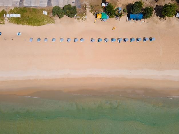Luft draufsicht strand