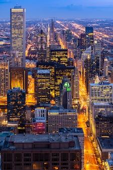 Luftaufnahme der chicago-skyline süd