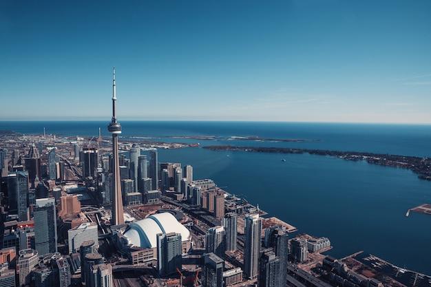 Luftaufnahme der skyline von toronto, kanada