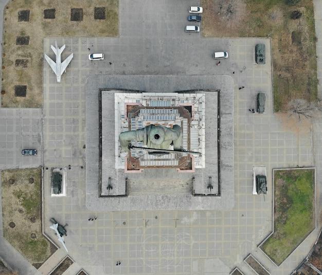 Luftaufnahme des denkmals der mutter von armenien