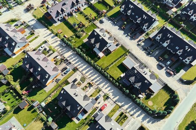 Luftaufnahme des modernen wohnviertels in europa-stadt