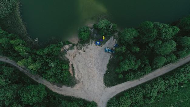 Luftaufnahme des sees