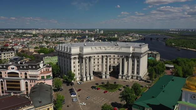 Luftaufnahme des sofia-platzes und des mykhailivska-platzes