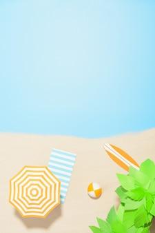 Luftaufnahme des strandresorts mit kopienraum. konzept sommerferien