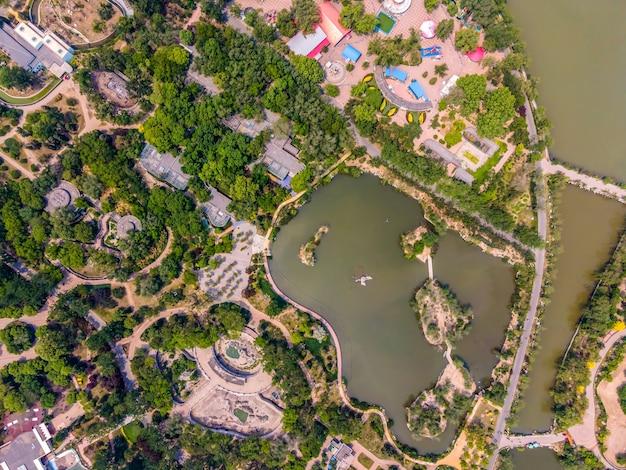 Luftaufnahme des tianjin wasserparks