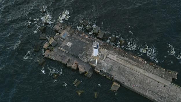 Luftaufnahme eines piers
