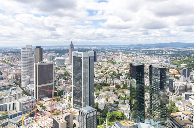 Luftaufnahme frankfurt-deutschlands