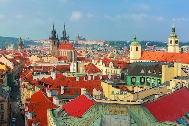 Luftaufnahme über altstadt, prag, tschechische republik