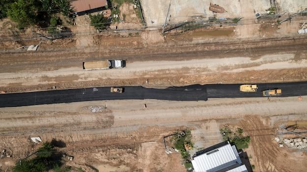 Luftaufnahme über bauarbeiteransicht vom brummen.