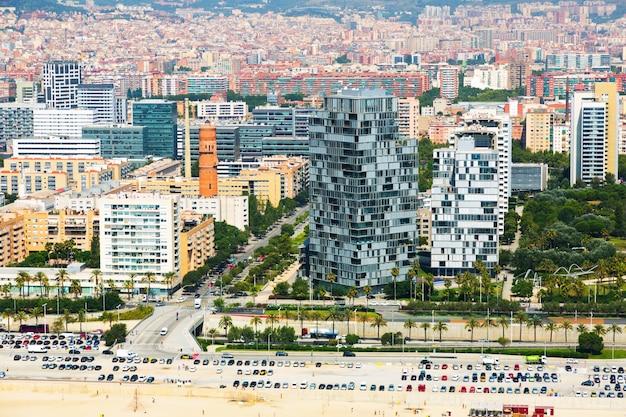 Luftaufnahme von barcelona im sommer