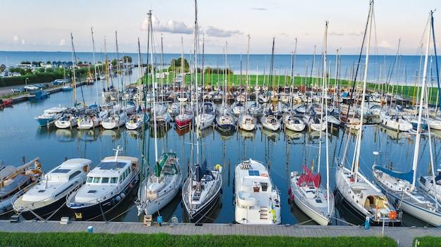 Luftaufnahme von booten, niederlande