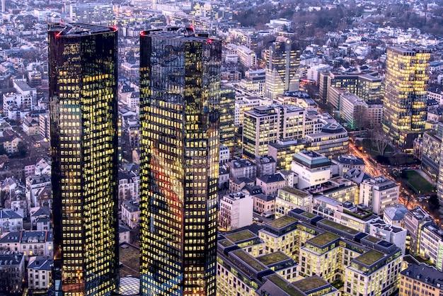 Luftaufnahme von frankfurt.