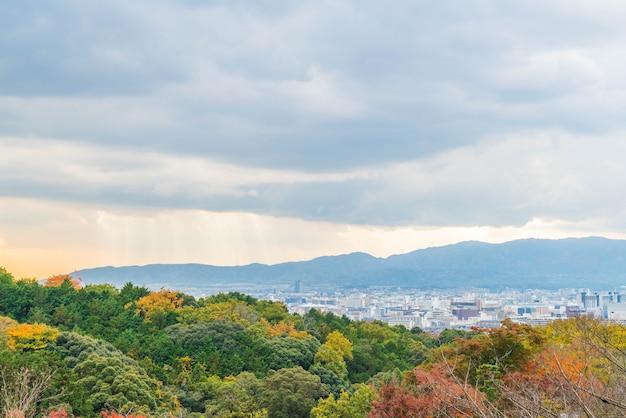 Luftaufnahme von kyoto city von kiyomizu-dera