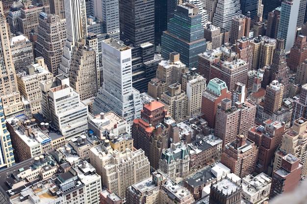 Luftaufnahme von manhattan, new york.