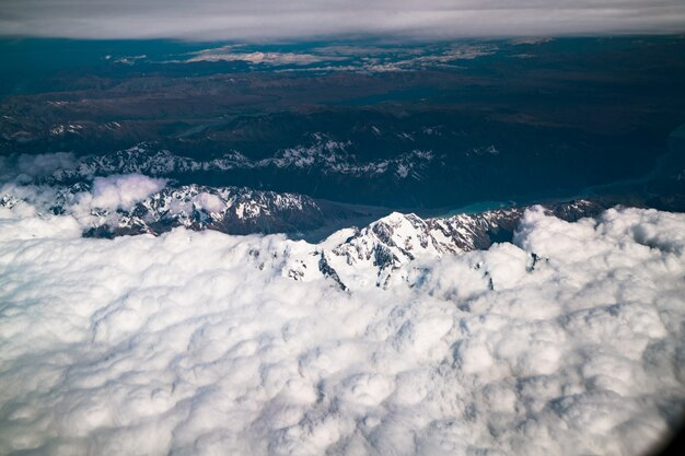 Luftaufnahme von mt cook, neuseeland