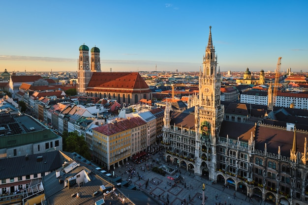 Luftaufnahme von münchen, deutschland