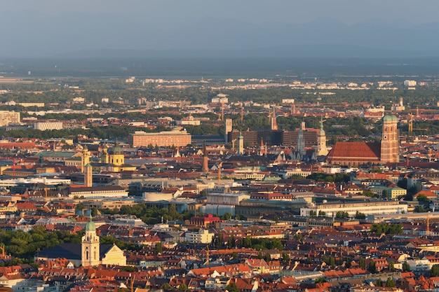 Luftaufnahme von münchen. münchen, bayern, deutschland