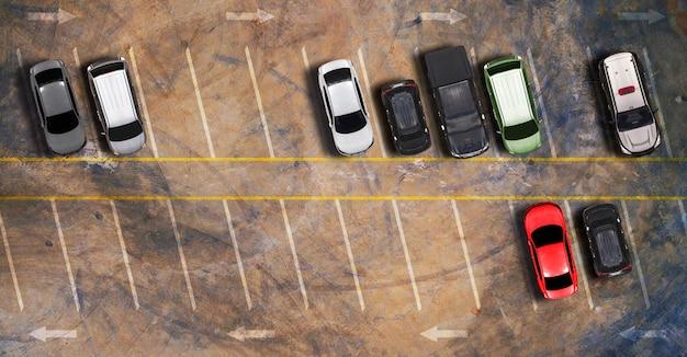 Luftaufnahme von parkplatz
