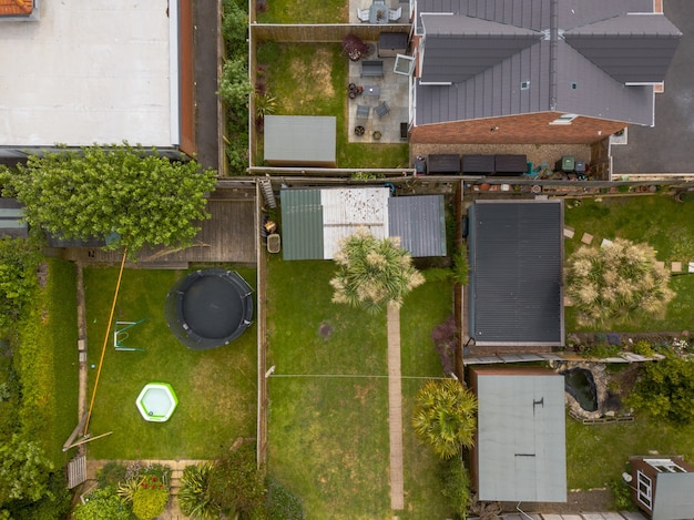 Luftaufnahme von privathäusern in weymouth, dorset, großbritannien