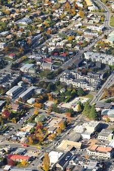 Luftaufnahme von queenstown, neuseeland