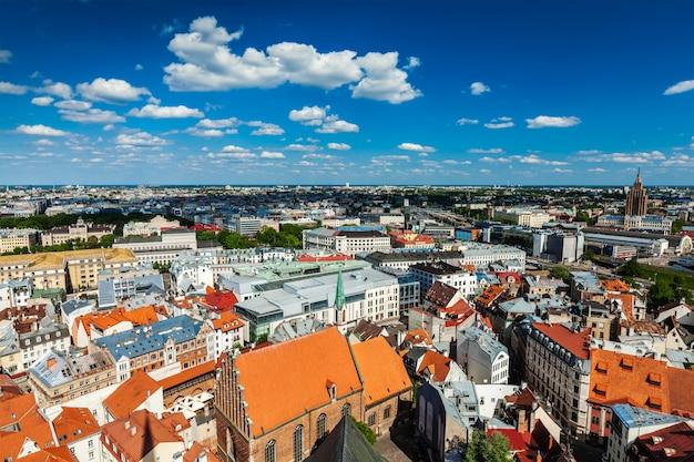 Luftaufnahme von riga, lettland