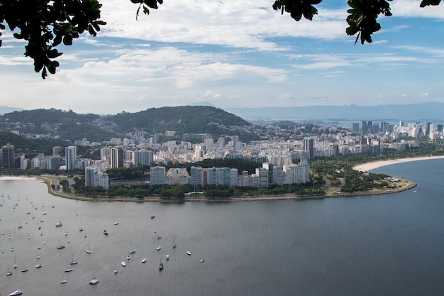Luftaufnahme von rio de janeiro brasilien.