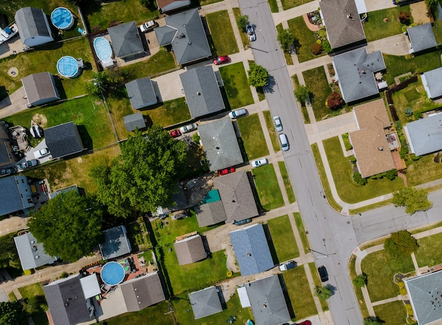Luftaufnahme von wohnvierteln in der schönen stadtstadtlandschaft der parma oh usa